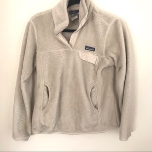 Patagonia Re Tool Snap T Pullover Cream Women's S